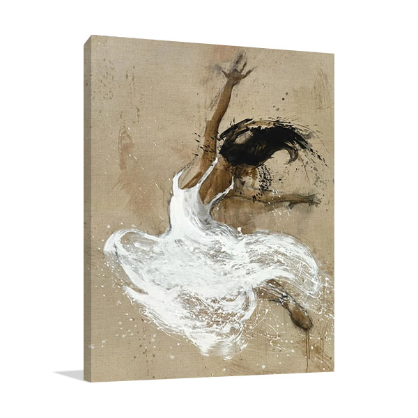 Dancer in White- Canvas Print
