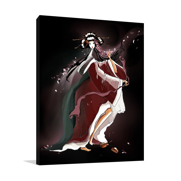 Dancing Geisha Print Artwork