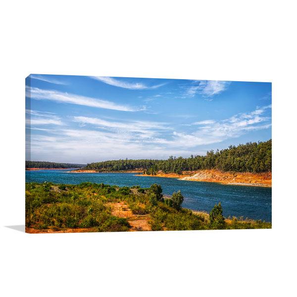 Dandalup Dam Art Print Lake Banksiadale