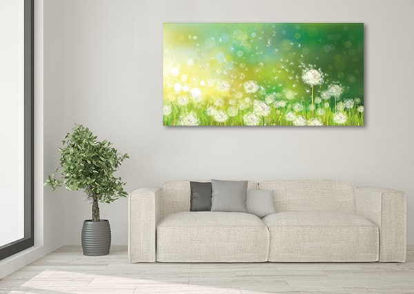 Dandelions Canvas Artwork on the Wall