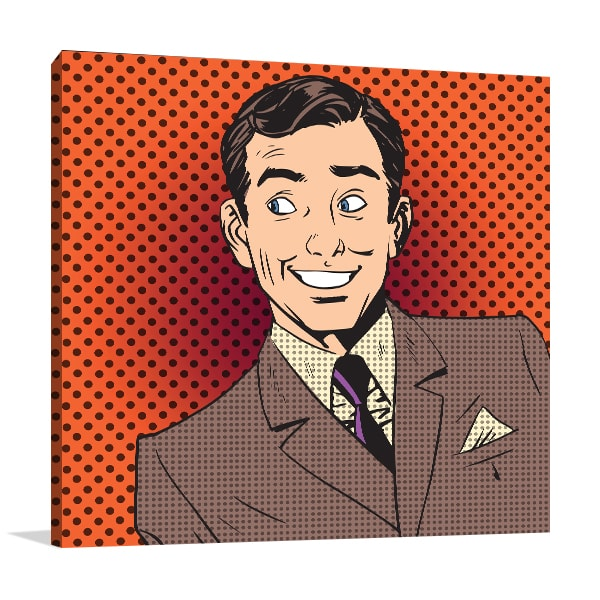 Dapper Man Canvas Art Print