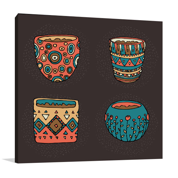 Dark Color Pot Artwork