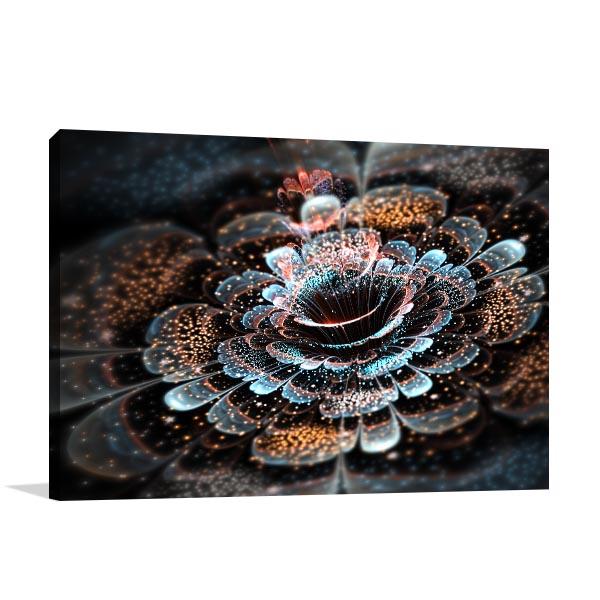 Dark Fractal Flower Canvas Art Prints
