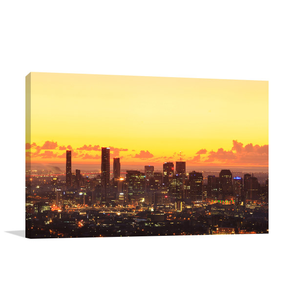 Dawn Brisbane City Canvas Art Prints
