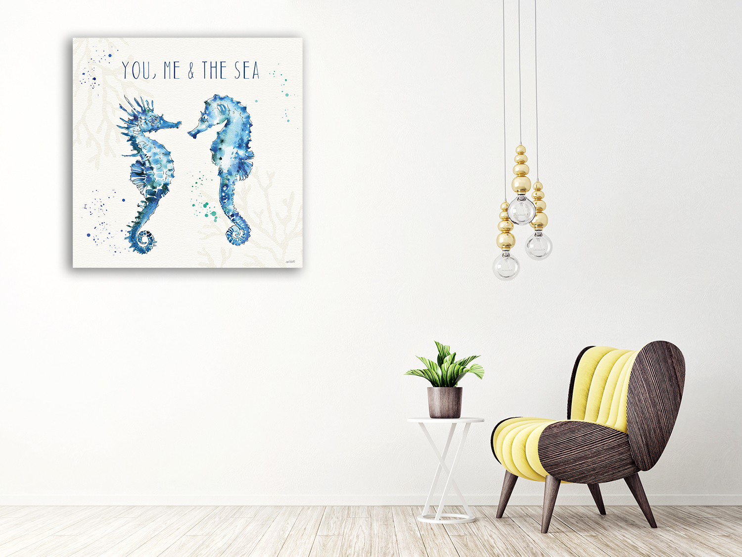 Blue Humor Art Wall Print