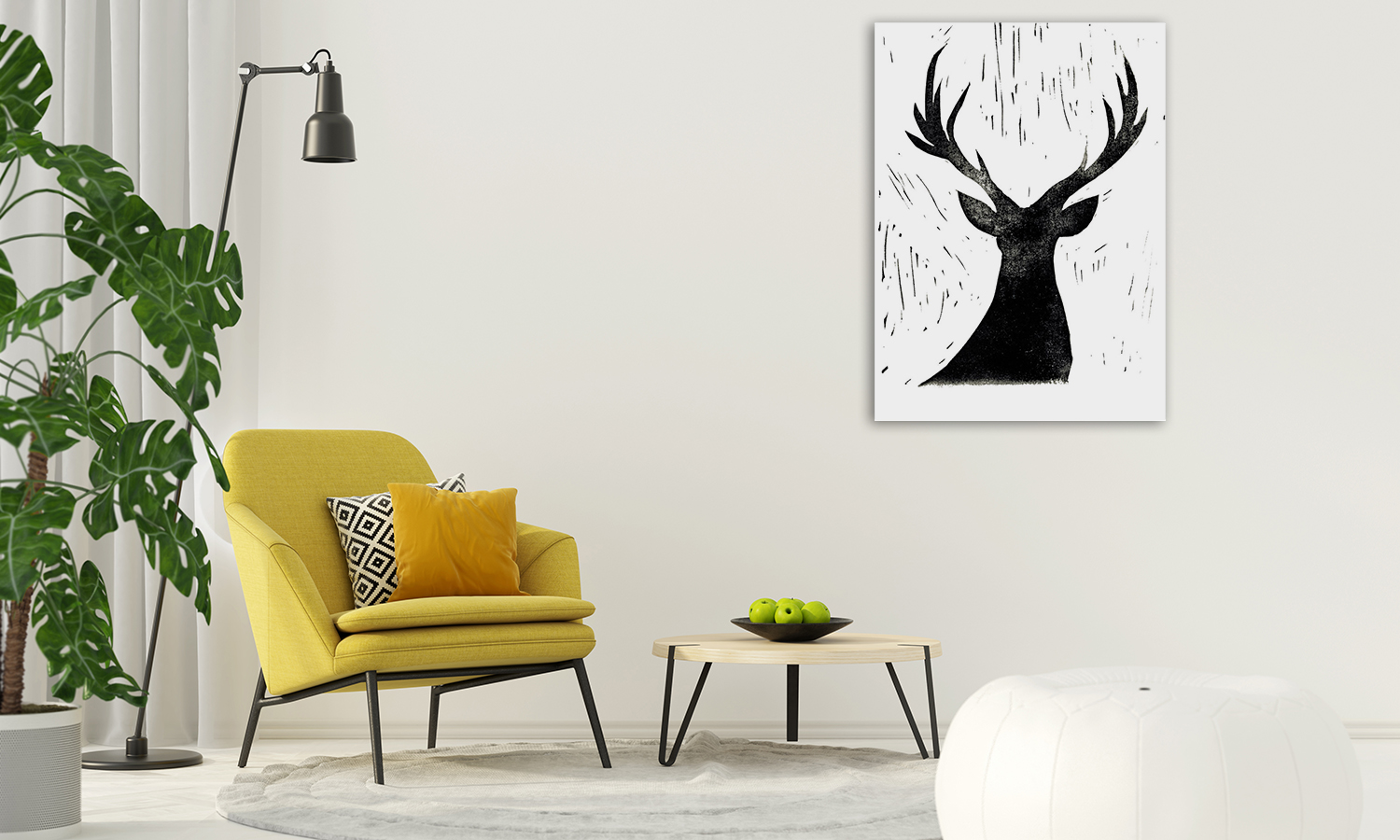 Animal Black and White Wall Print