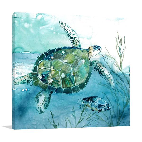 Delray Sea Turtle I Print | Carol Robinson