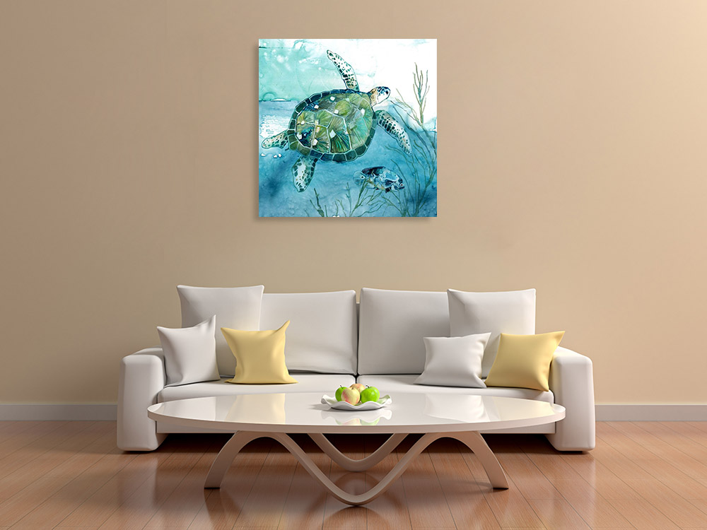 Blue Green Canvas Wall Print