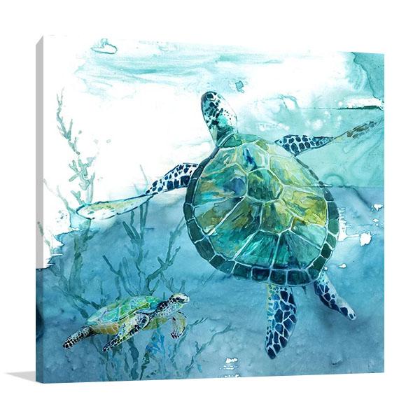 Delray Sea Turtle II Wall Print   Carol Robinson