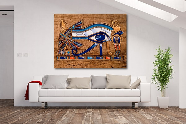 Depicting Eye Prints Canvas