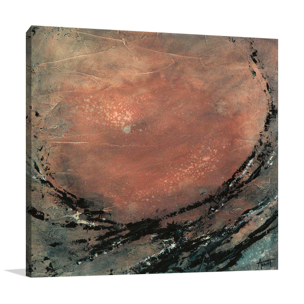 Desert Moon Wall Canvas Print