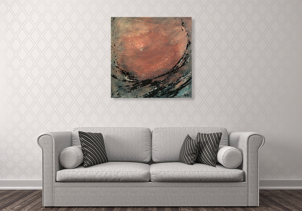 Abstract Moon Art Canvas Print