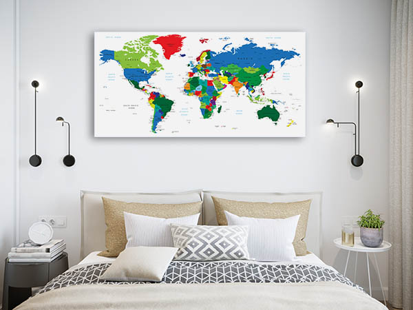 Detailed World Map Of Countries Art Prints