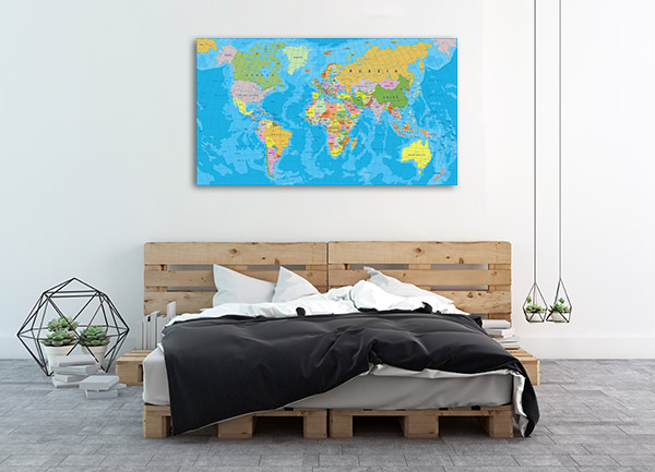 Detailed World Map Art Prints