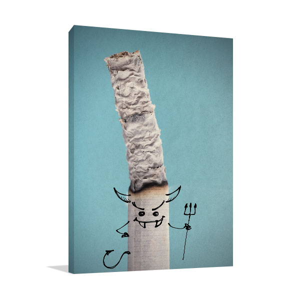 Devil Cigarette Canvas Prints