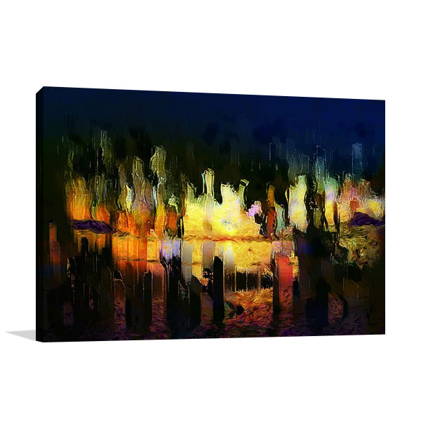 Digital City Abstraction Wall Print