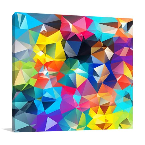Digital Geometric Canvas Wall Print