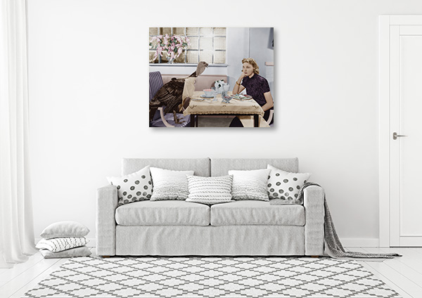 Dinner with Turkey Canvas Art Prints