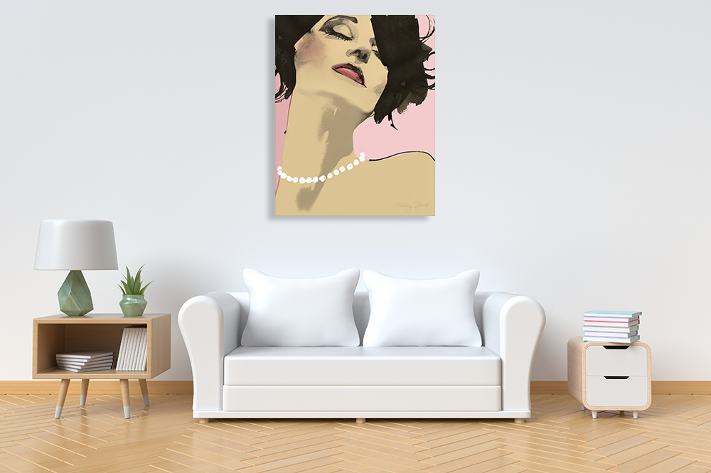 Diva I Wall Art Print | Beauty Wall Canvas Art