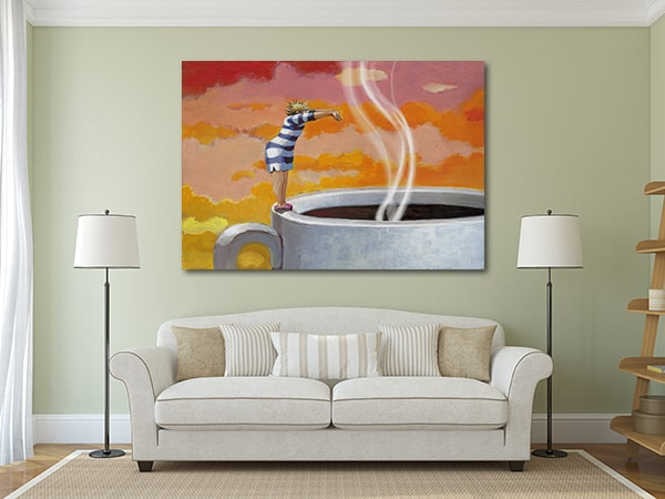 Dive in Coffee Wall Canvas