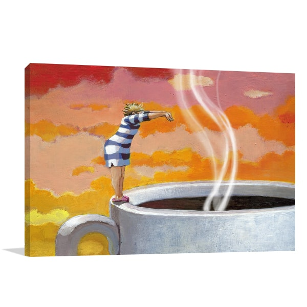 Dive in Coffee Canvas Artwork