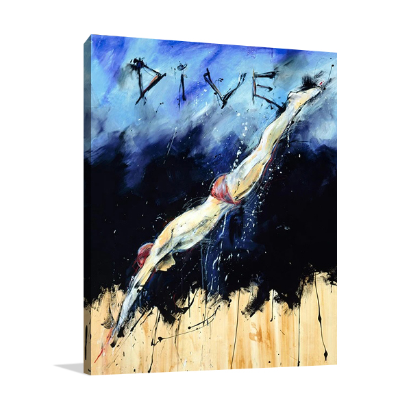 Dive Canvas Print | Marta Wiley
