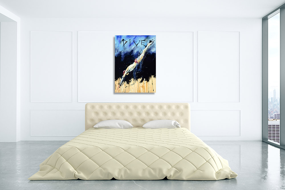Canvas Art Print Blue Gold