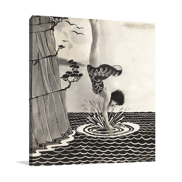 Diving in Illusion Canvas Prints