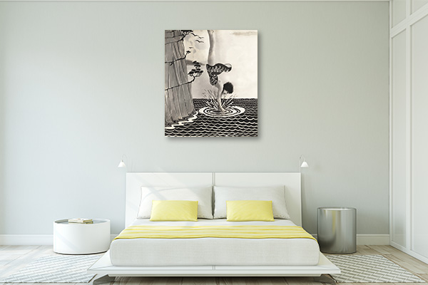 Diving in Illusion Wall Art