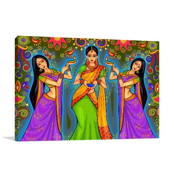 Diwali Festival Wall Art