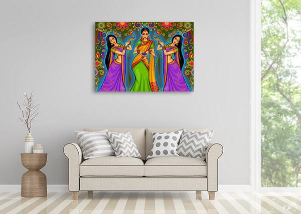 Diwali Festival Canvas Prints