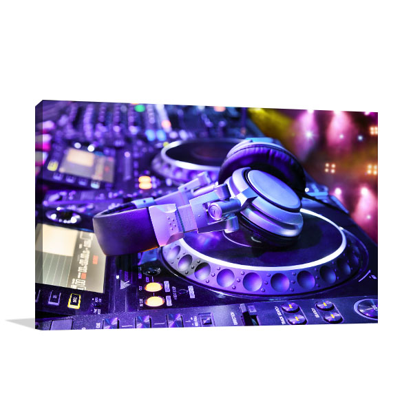 Dj at NightClub Wall Art