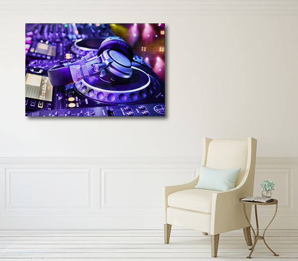 Dj at NightClub Canvas Art Prints