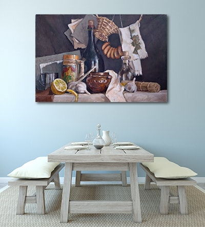 Domestic Food Art Print on the Wall