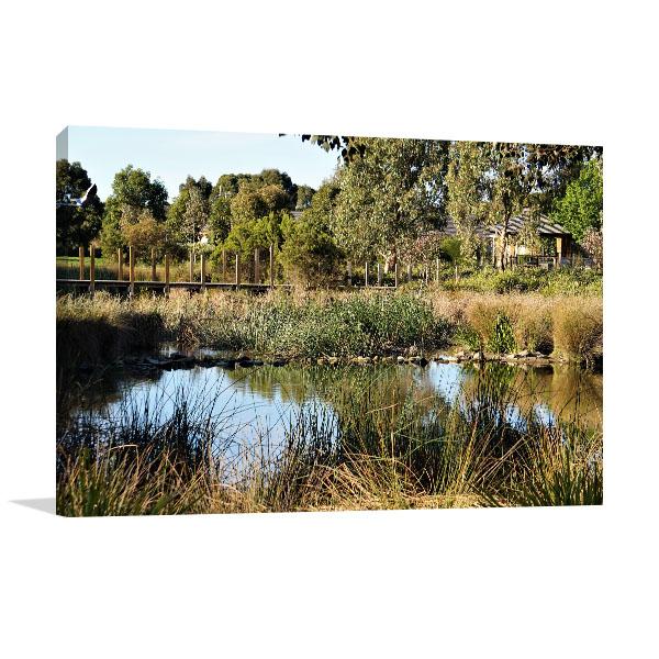 Doreen Art Print Pond and Bridge
