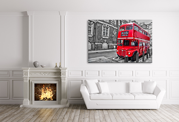 Double Decker Art Print on the wall