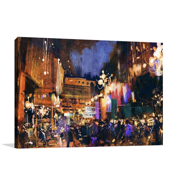 Downtown Alley Canvas Art Prints