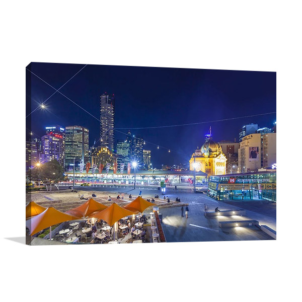 Downtown Melbourne Wall Canvas Print