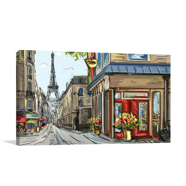 Downtown Streets of Paris Canvas Prints