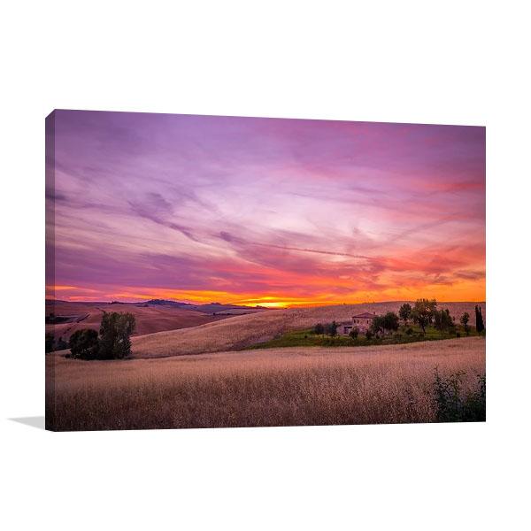 Dramatic Sky Sunset Print on Canvas