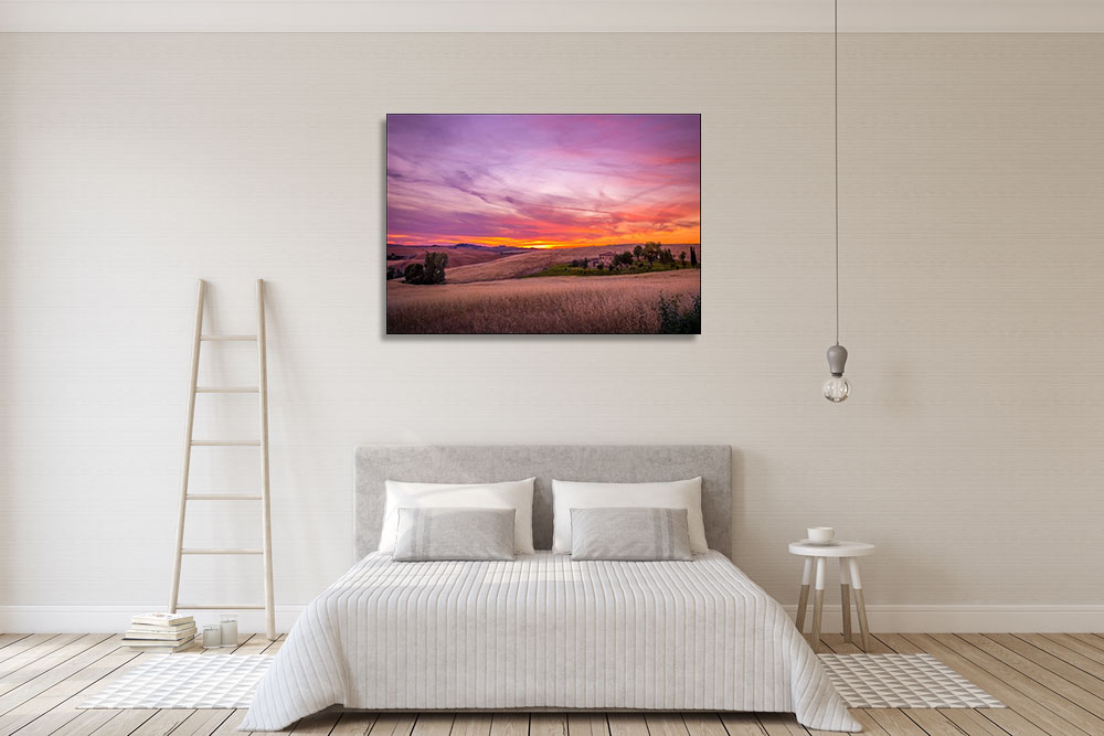 Purple and Pink Canvas Art Print