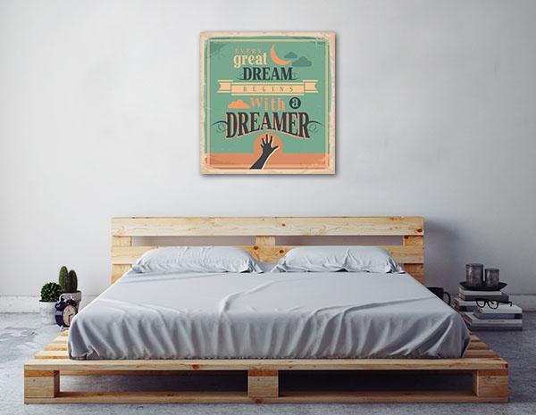 Dreamer Motivational Message Canvas Art Prints