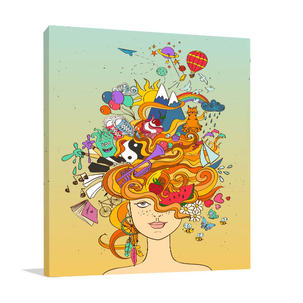 Dreaming Crazy Canvas Art Prints