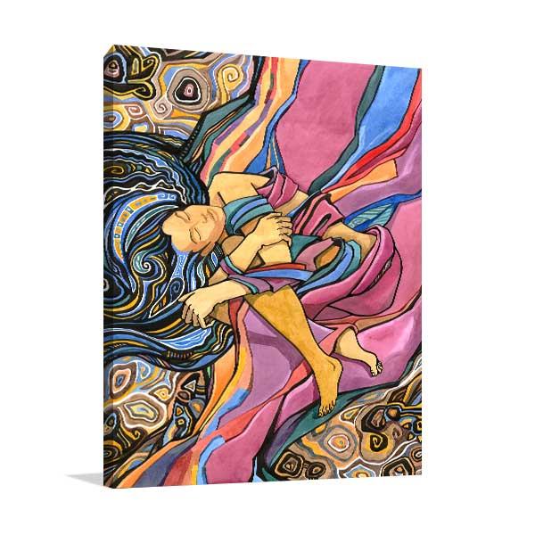 Dreaming Watercolour Wall Art