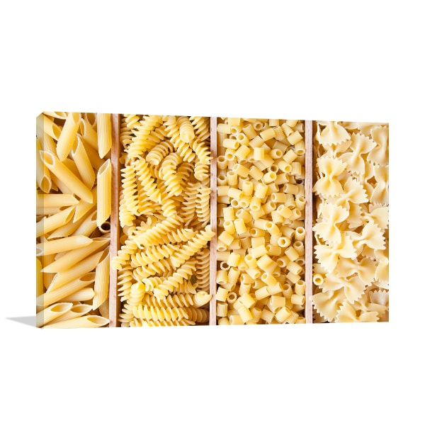 Dry Pasta Prints Canvas
