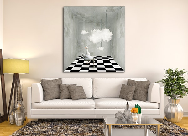 Ducks and Clouds Canvas Art