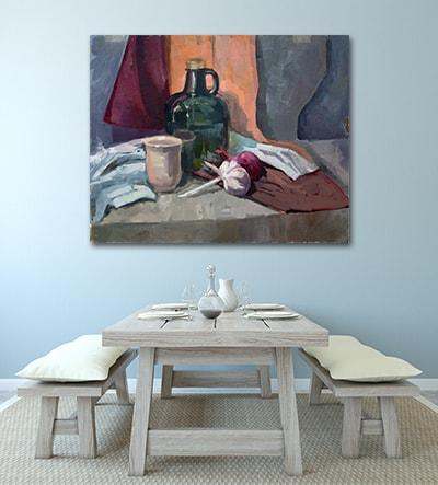 Dull Kitchen Canvas Art Print
