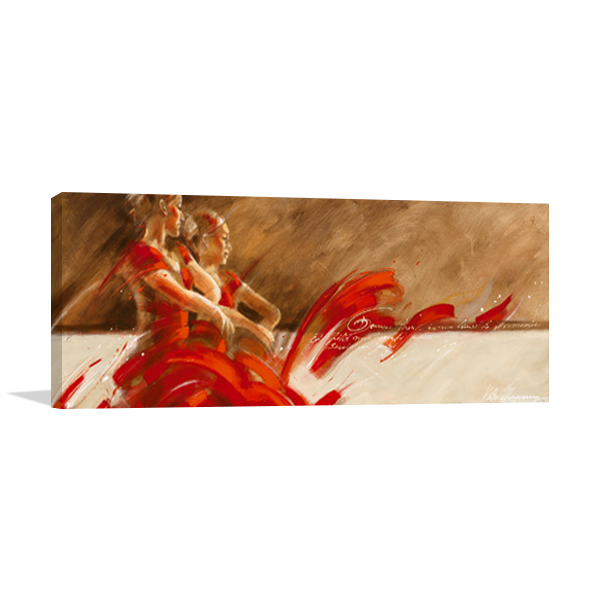 Duo in Red Wall Art Print