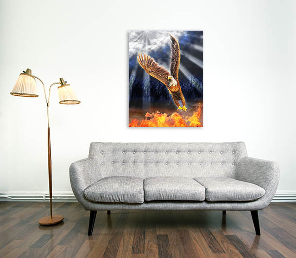 Eagle In Flames Artwork