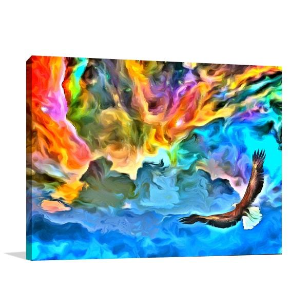 Eagle in Heaven Print Artwork